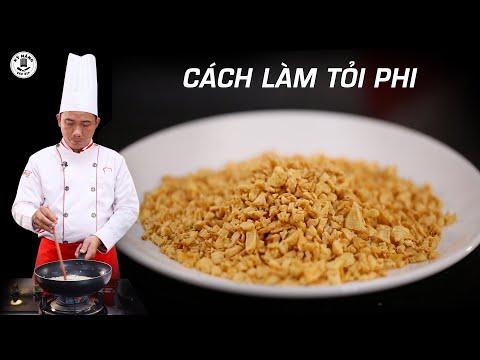 Cách làm Tỏi Phi thơm, giòn và để được lâu - Dạy học nấu ăn   Kỹ Năng Vào Bếp