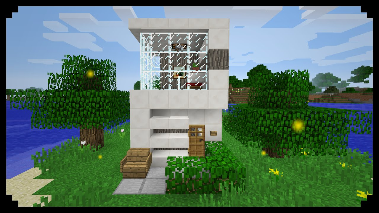 Minecraft how to make a small modern house 5x5 youtube for How to build a modern home