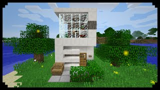 ✔ Minecraft: How to make a Small Modern House (5x5)