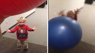 Toddler Gets Hit In The Face By Ball