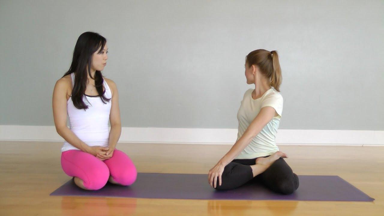 Hatha Yoga Bharadvaja's Twist Pose (Bharadvajasana) - YouTube