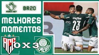 Atlético GO 0 x 3 Palmeiras | Campeonato brasileiro | HD 25/10/2020
