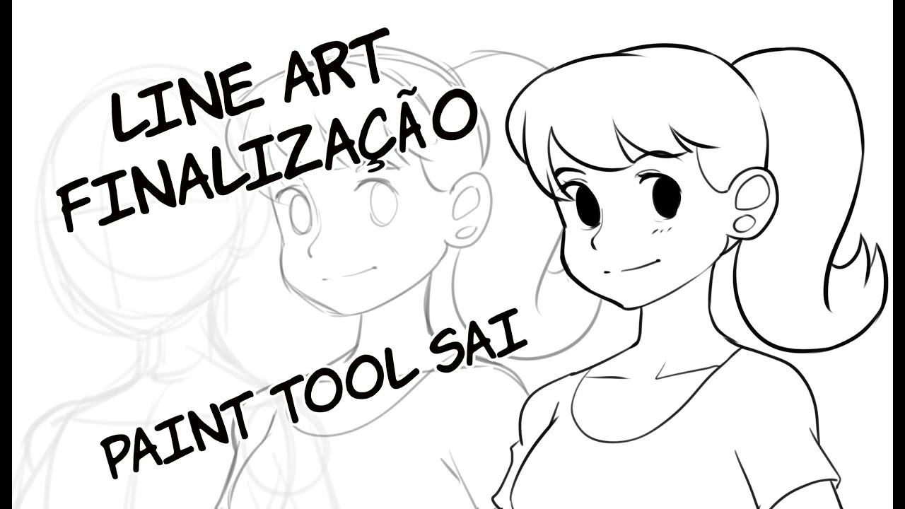 Line Art Sai : Lineart finalização paint tool sai youtube