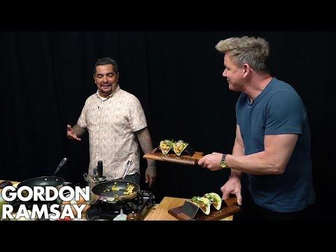 Gordon Ramsay Cooks Breakfast Tacos with Aarón Sanchez   Scrambled