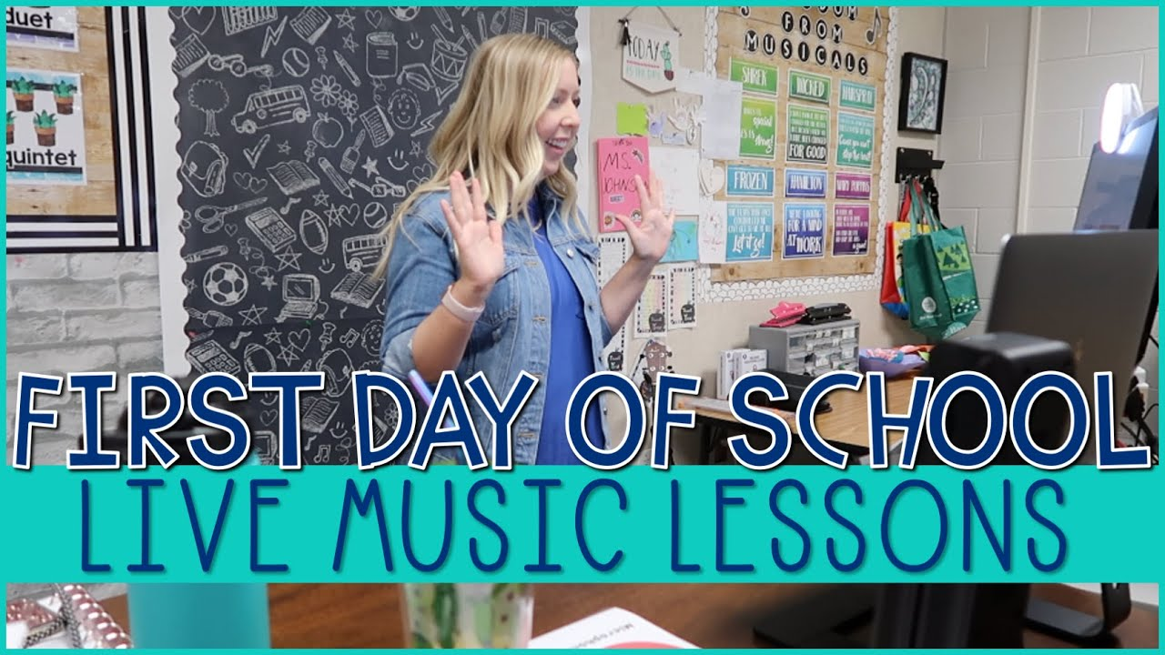 FIRST DAY OF SCHOOL ONLINE LEARNING  // Live Music Lessons
