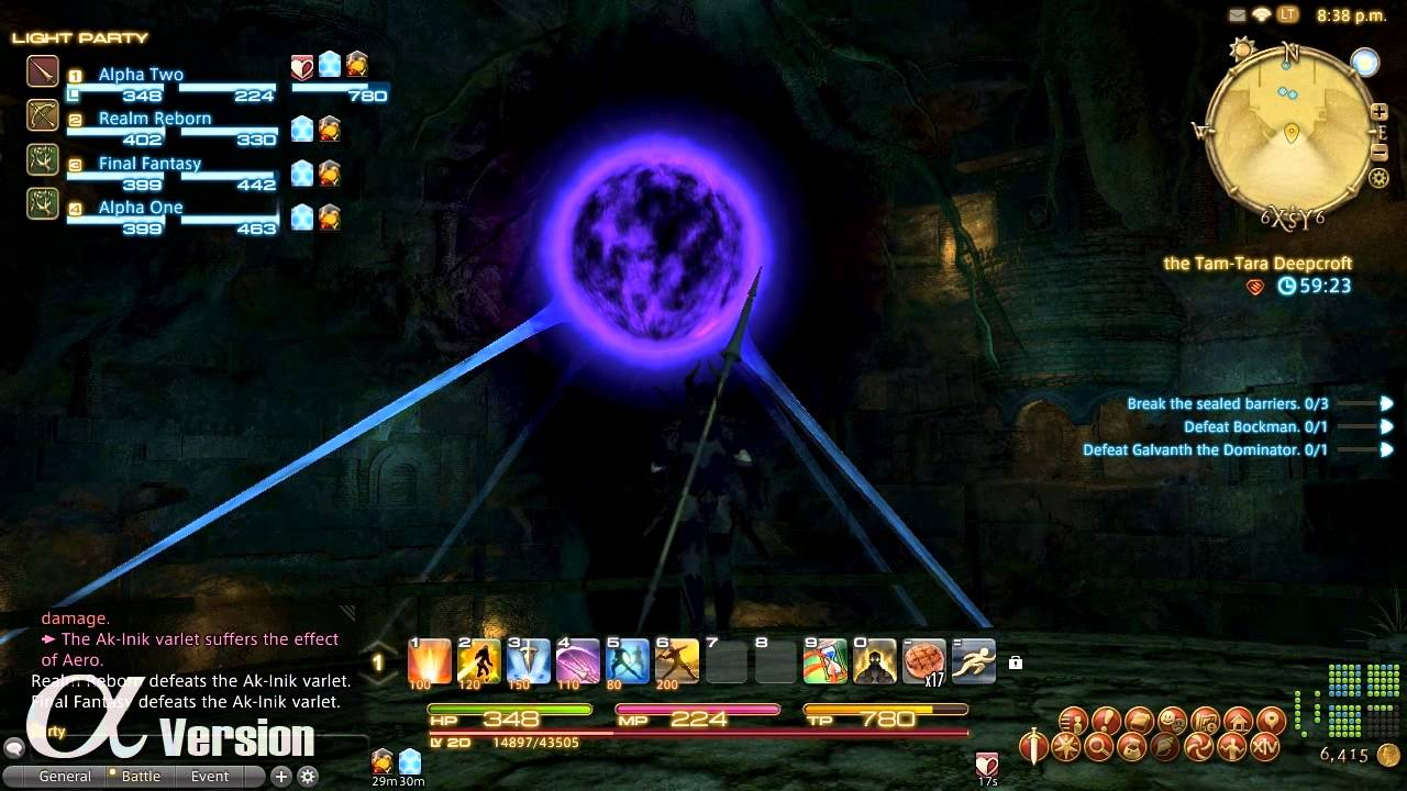 Final Fantasy XIV alpha footage features instanced dungeon