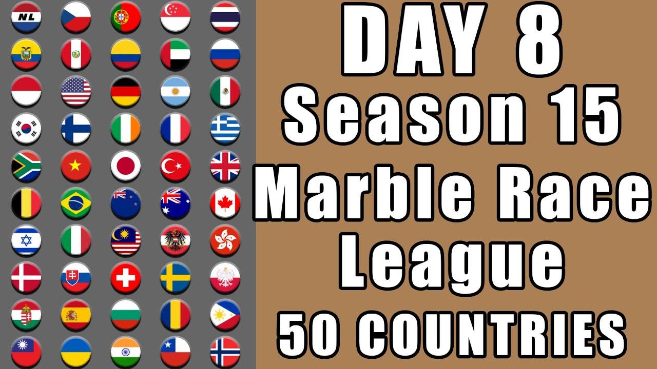 Marble Race League Season 15 Day 8 Marble Point Race in Algodoo / Marble Race King