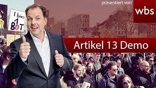 Artikel 13 Demo in Köln LIVE - RA Christian Solmecke