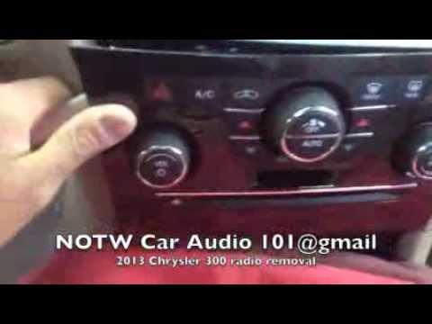 how to remove 2011 2014 chrysler 300 radio screen youtube2011 Chrysler 300 Rb5 Wiring Diagram #7