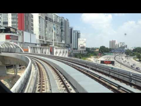 [LRT KJ] {Front/Cab View} LRT Kelana Jaya Line extension (Kelana Jaya to Putra Heights)