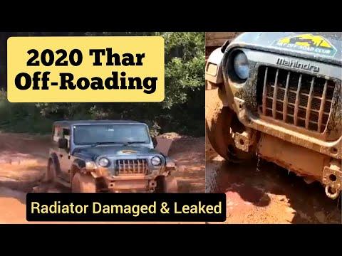 2020 THAR Radiator Damaged & Leaked during Off-Roading - AutoWheels India (autowheelsind)
