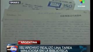 Argentina: inauguran muestra de cartas de exiliados en dictadura