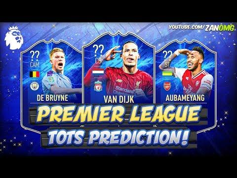 FIFA 20 | PREMIER LEAGUE TOTS PREDICTION!! 😱🔥 | FT. AUBAMEYANG, DE BRUYNE, VAN DIJK...etc