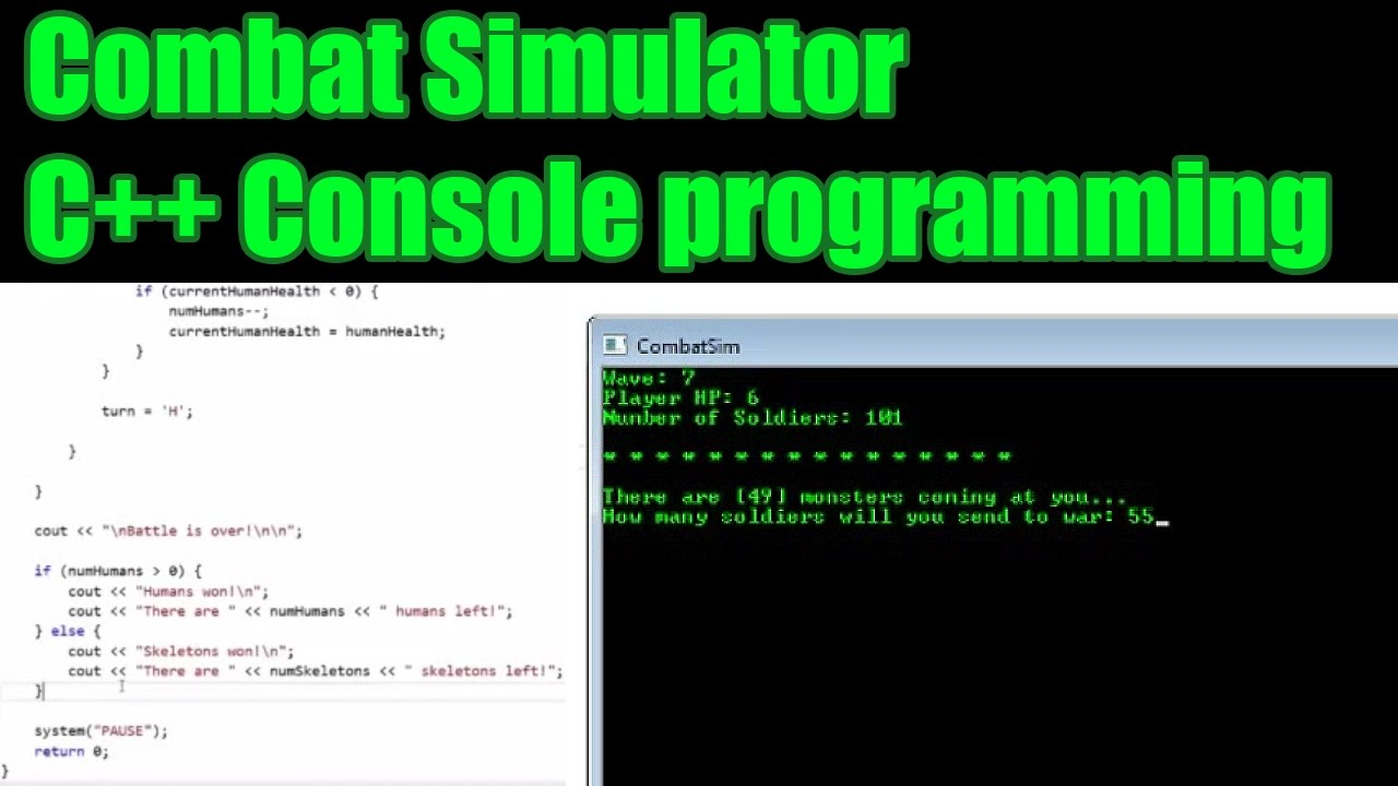 Combat Simulator - Console program - c++