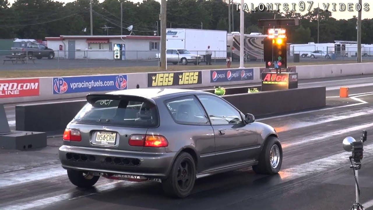 Multiple Fast Hondas racing test & tune - YouTube