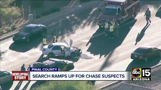 Search underway for two pursuit suspects who tried to ram PCSO deputies