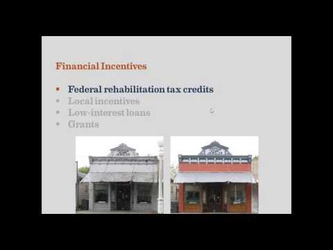 Historic preservation financial incentives