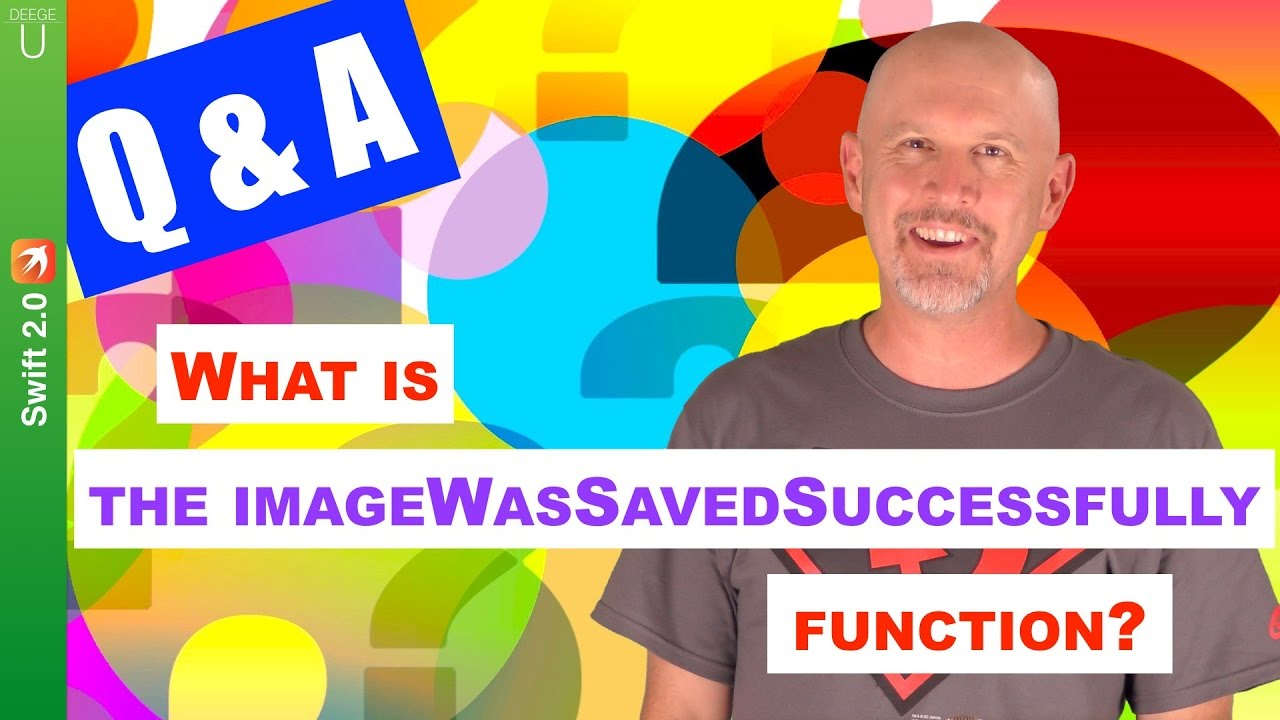Question: What is the the imageWasSavedSuccessfully function