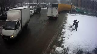 Климовск, перекресток ул.Ленина и Школьной, 19 декабря 2017