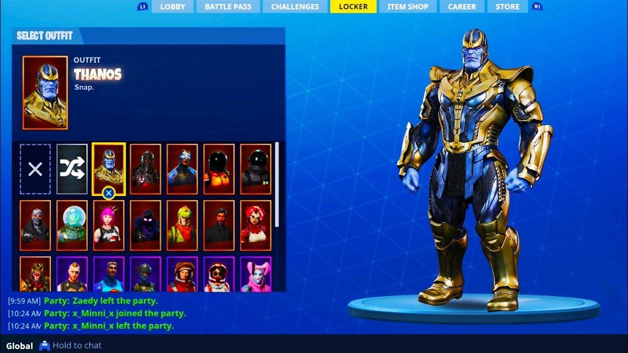 How To Get New Thanos Skin In Fortnite Fortnite Battle Royal