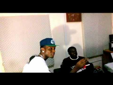 D-black,Lighter,and Dee-Moneey Recording SUPER CHICK inside Black Avenue Studios