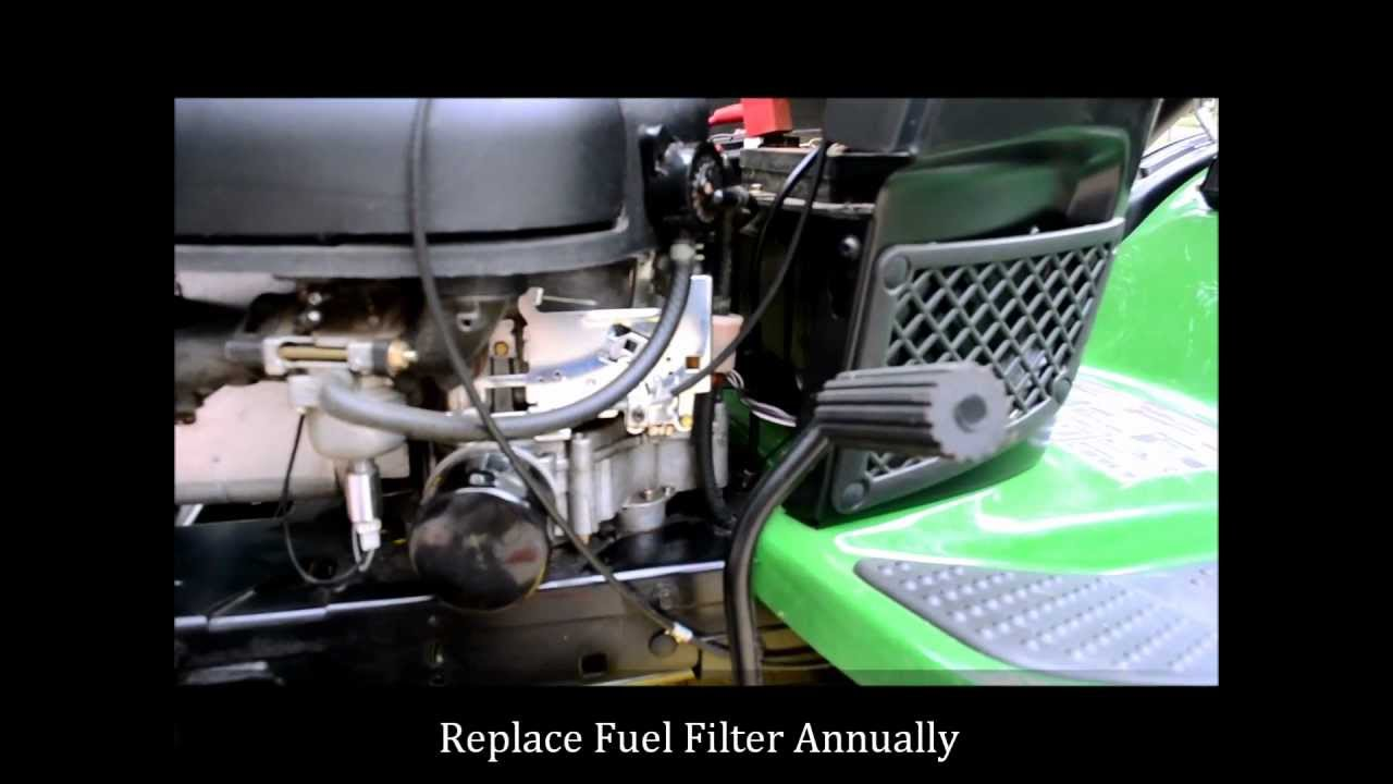 how to change a john deere lawn mower fuel filter [ 1280 x 720 Pixel ]