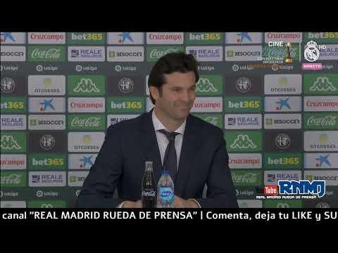 Betis 1-2 Real Madrid Rueda de prensa de SOLARI post Jornada 19 (13/01/2019)