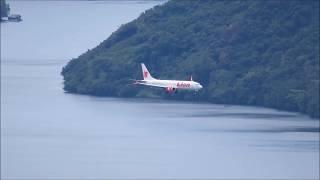 Boeing 737 Max 8 Pesawat Lion Air Landing di Bandara Sentani Kota Jayapura Papua