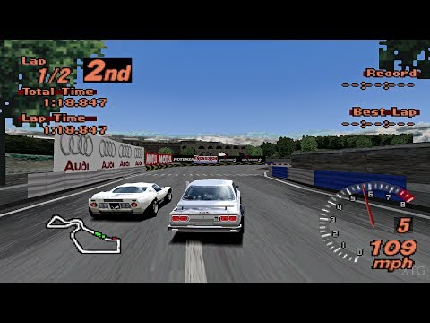 Gran Turismo 2 - Historic Car Cup Race (Rome Circuit) PS1 Gameplay HD