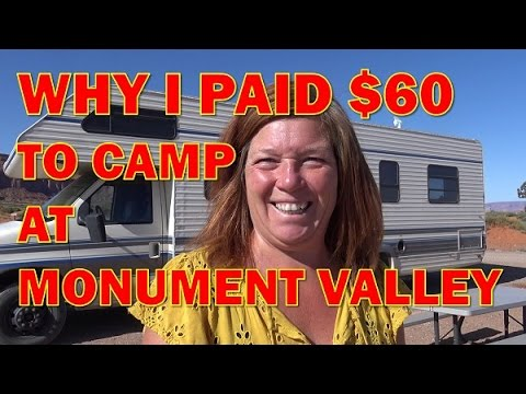 Monument Valley RV Park and Sunset Views of Red Rock Formations