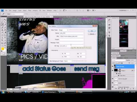 How To Make A REAL PRO Myspace Layout PART 2 [HOW TO SLICE]