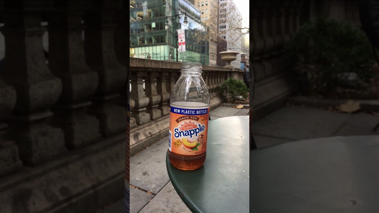 Snapple in the new plastic bottle