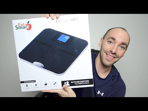 EatSmart Precision Getfit Digital Body Fat Scale Unboxing, Setup, & Review