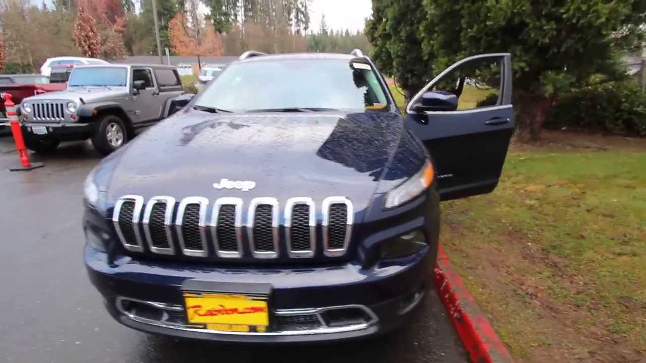 2014 Jeep Cherokee Limited True Blue Pearl Ew162094