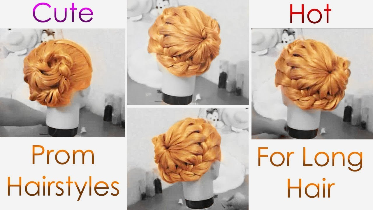 Cutest Prom Hairstyles For Long Hair Tutorial - YouTube