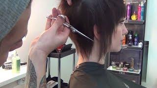 видео Схема короткой женской стрижки: боб, пикси