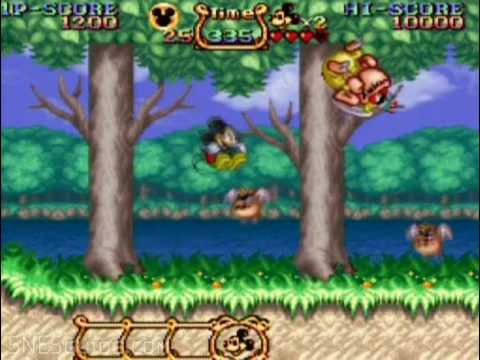 The Magical Quest starring Mickey Mouse - SNES Gameplay