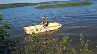 How this is done ? Как это сделано? JonBoat. Лодка из пенопласта. Спуск на воду .MOV(, 2012-01-29T18:47:59.000Z)