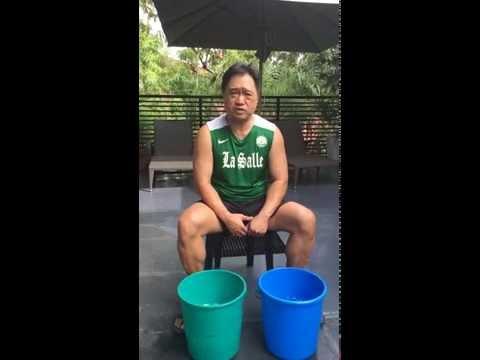 Sec. Cesar Purisima accept ALS ice bucket challege