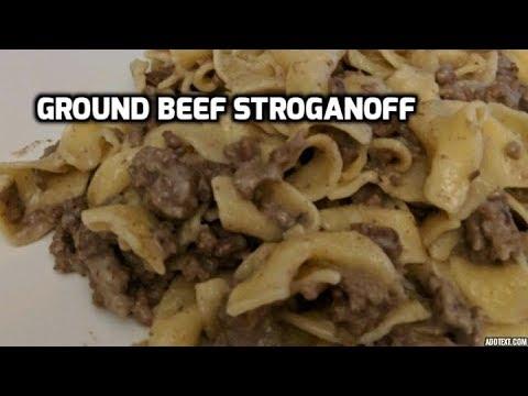 HOMEMADE HAMBURGER HELPER---GROUND BEEF STROGANOFF