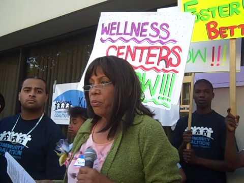 Deanne DAntignac Speaks at DCFS Protest