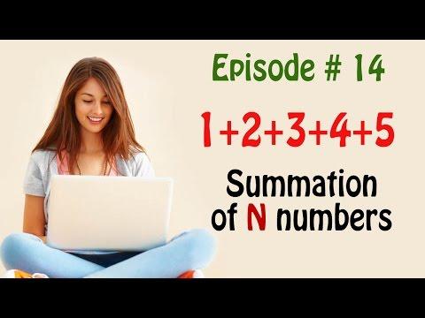 c program to find sum of n numbers (summation) using for loop