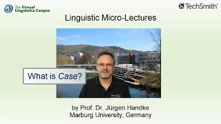 Linguistic Micro-Lectures: Case