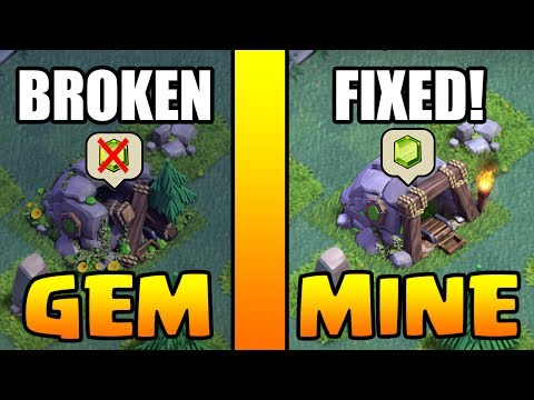 HOW TO GET GEM MINE :: Clash Of Clans :: FIX A BROKEN GEM MINE!