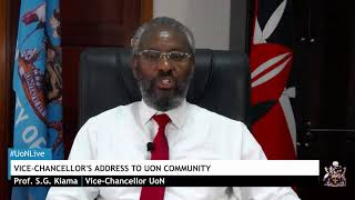 Vice-Chancellor's Address to the University of Nairobi Community