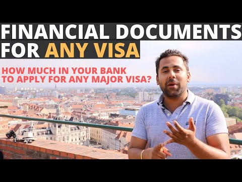 Financial Documents Needed To Apply For A Tourist Visa For Europe/Canada/UK/Australia/NewZealand