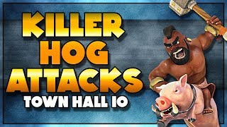 DOMINANT Hog Attack Strategies for TH10 | Clash of Clans