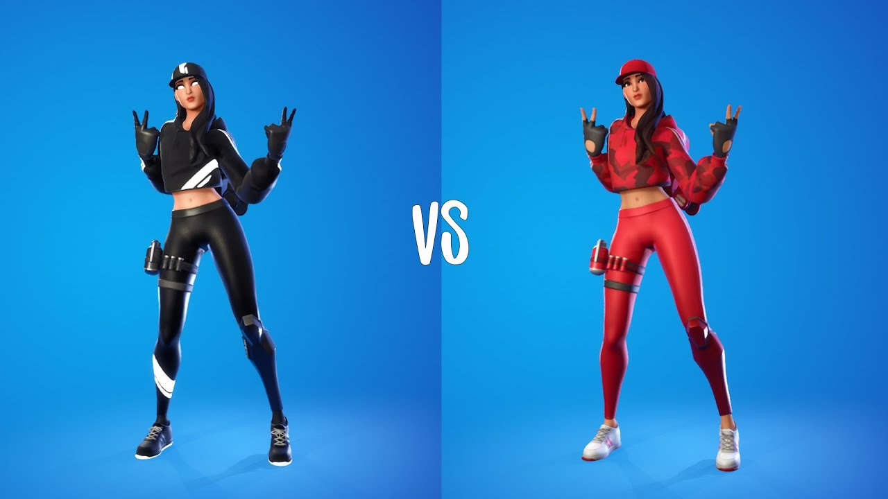 Download Ruby Shadows Skin Vs Red Ruby Skin Showcase with Emotes & Dances Fight ( 100% Sync )