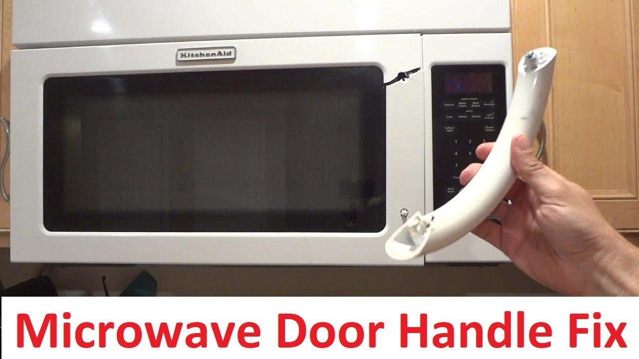 microwave door repair kitchenaid khms2040wwh