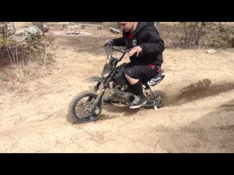 125cc Pitbike Burn Out